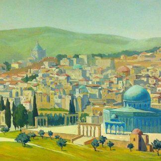 Jerusalem's old city view