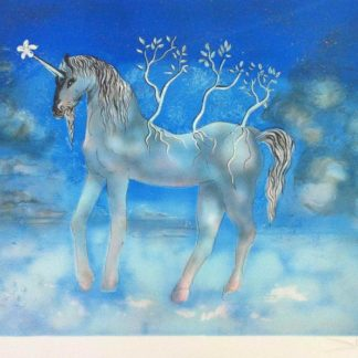 Unicorn by Salvador Dali