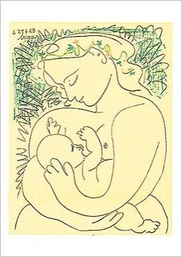 Maternity, Original lithograph by Picasso – The Farkash Gallery